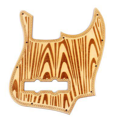 Replacement Guitar Wood Pickguard for Jazz Bass 5 String