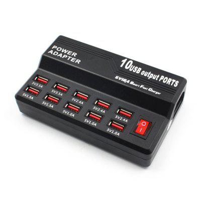 10-port USB Charger Smart Fast Charging Station