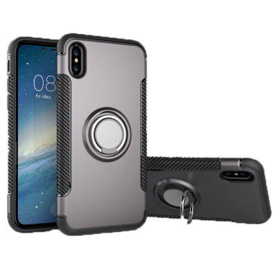 Magnetic Phone Shell Anello resistente alla polvere antigraffio per iPhone X
