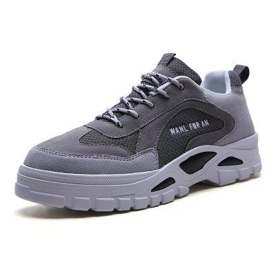 Outdoor Sports Breathable Mesh Thick-soled Travel Casual Sneakers Shoes for Men