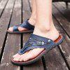 Men's Sandals Genuine Leather Men Beach Slippers Comfortable Outdoor Shoes - BLUEBERRY BLUE