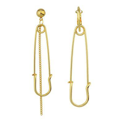 Gold Silber Farbe mit Pin Dangle Earrings