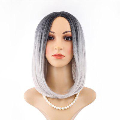 Medium Black Gradient White Star Wig