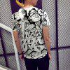 Summer Fashion Black and White Man Print Men's Short-sleeve T-shirt - MULTI