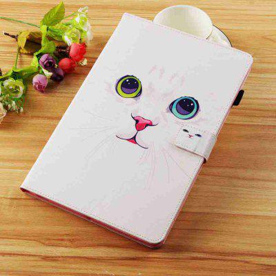 White Cat Painted Tablet Leather Case for iPad Mini 1/2/3/4/5