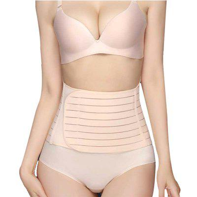 Fastening Tape Waist Corset Belly Control Girdle Striped for Postpartum Recover
