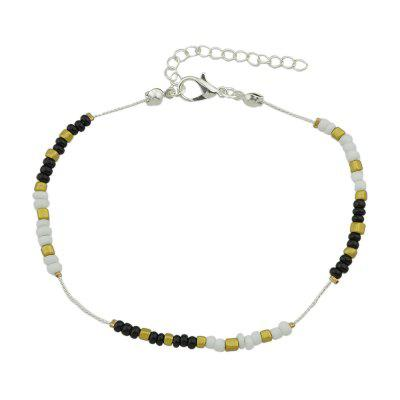 Silver Color Chain With Colorful Beads Anklets 1PC