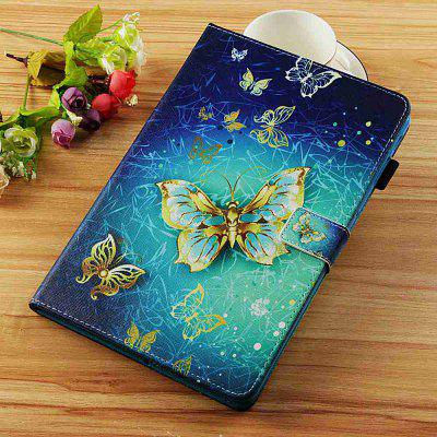 Gold Butterfly Painted Tablet Leather Case for iPad New Air ( 2019 )/ iPad Pro 10.5