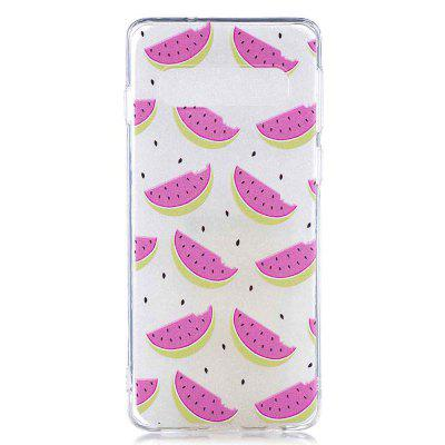 Small Watermelon Painting TPU Phone Case for Samsung Galaxy S10 Plus