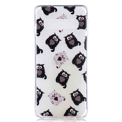 Big-Eyed Cat Painting TPU Phone Case do Samsung Galaxy S10 Plus