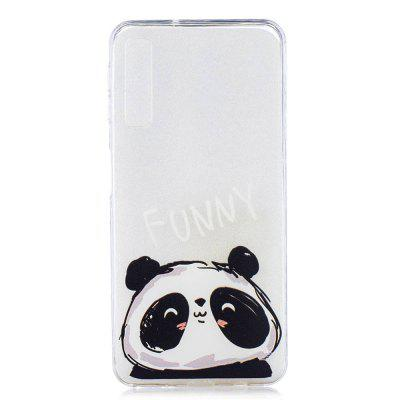 Cute Panda Painting TPU Phone Case for Samsung Galaxy A7 2018 / A750