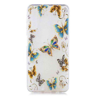Jewelry Butterfly Painting TPU Phone Case for Samsung Galaxy A7 2018 / A750