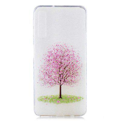 Cherry Tree Painting TPU Phone Case for Samsung Galaxy A7 2018 / A750
