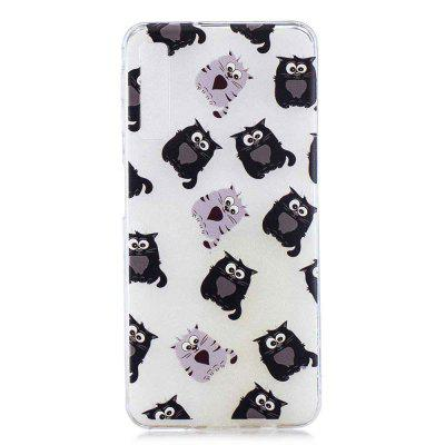 Big-Eyed Cat Painting TPU Phone Case for Samsung Galaxy A7 2018 / A750