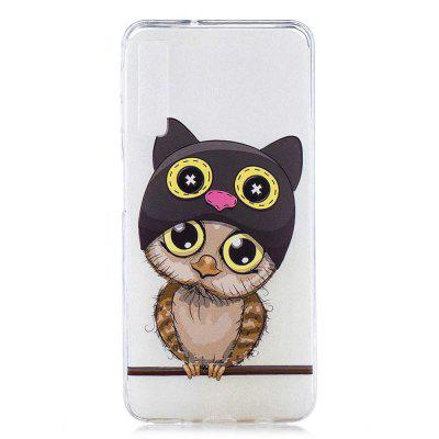 Owl Painting TPU Phone Case for Samsung Galaxy A7 2018 / A750