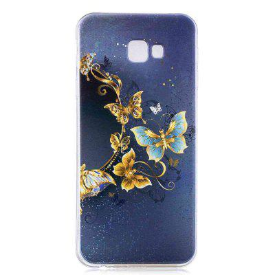 Gold Butterfly Painting TPU Phone Case for Samsung Galaxy J4 Plus