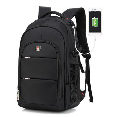 AUGUR Fashion USB Travel Bag Laptop Backpack for Men Women