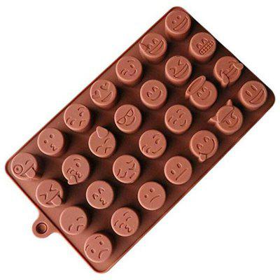 28 Holes QQ Expression Chocolate Molds 1pc