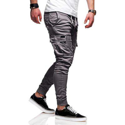 Three-Dimensional Tether Elastic Sports Trousers Long Casual Pants