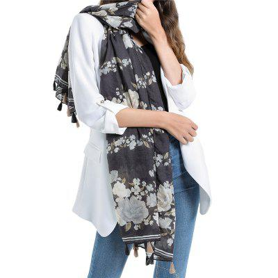 SALYBABY Classical National Flower Printing Women Scarf