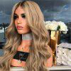 Ladies Wig Long Curly Hair Chemical Fiber Gradient Dyeing Split - CHAMPAGNE GOLD