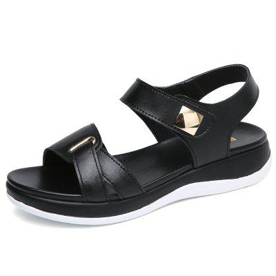 2019 Summer Leather Casual Temperament Comfortable Breathable Sandals for Women