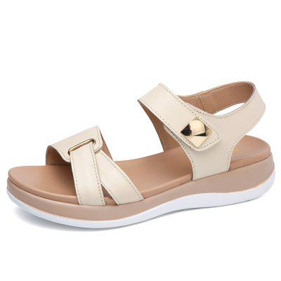 2019 Summer Leather Casual Temperament Comfortable Breathable Sandals for Women (Gearbest) Jackson products new