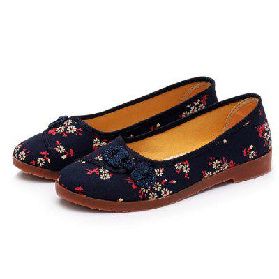 Comfortable and Stylish Casual Embroidered Women Flat Shoes