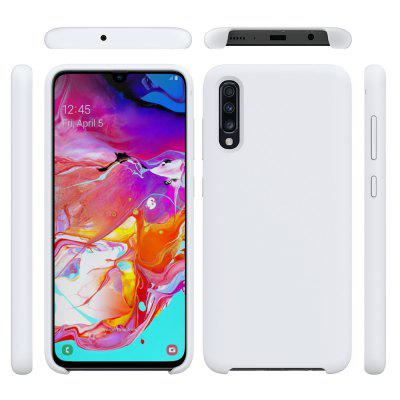 Solid Color Liquid Silicone Drop Proof Phone Case for Samsung A70