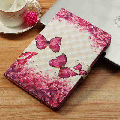 Rose Red Butterfly 3D Painted Tablet Case for iPad New Air(2019)/iPad Pro 10.5