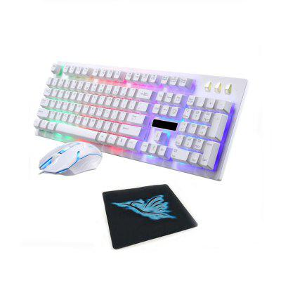 Gaming Keyboard Mouse and Pad Combos Optical Gamers for Desktop Laptop 3 Pcs