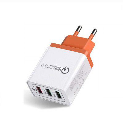 QC3.0 3-poorts USB-snellader Adapter voor iPhone / Huawei / Samsung / Xiaomi