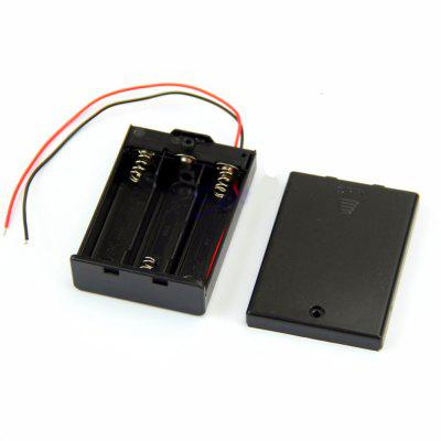 AA Battery Box with Covered Switch and Parallel Strip Wire 3pcs