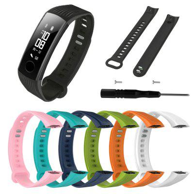 Sport Silicone Bracelet Strap Wristband for Huawei Honor 3 Smart Watch + Tool