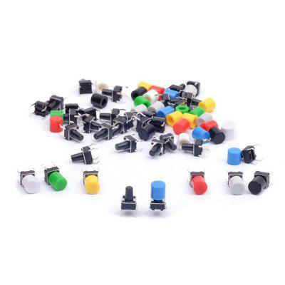 Tact Push Button Switch Micro Switch with Button Caps  for Arduino (35Pcs)