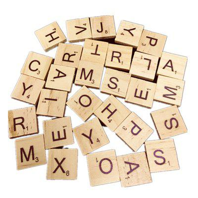 Wooden English Alphabet Puzzle Literacy Box 100PCS