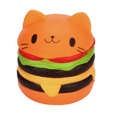Jumbo Squishy Cat Burger Slow Rebound Decompression Toy