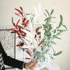 Artificial Olive Leaves Home Party Wedding Decor Artificial Flowers 1 Branch - WHITE