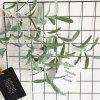 Artificial Olive Leaves Home Party Wedding Decor Artificial Flowers 1 Branch - GRAYISH TURQUOISE