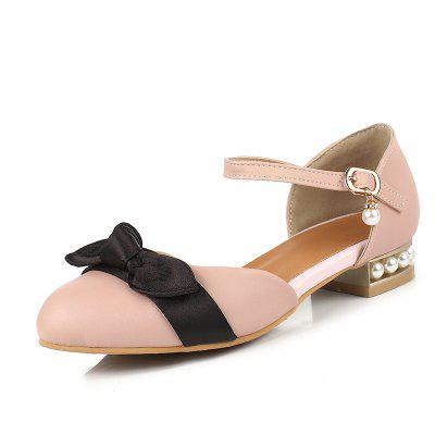Summer Colour Butterfly Tie Belt Low Heeled Princess Shoes