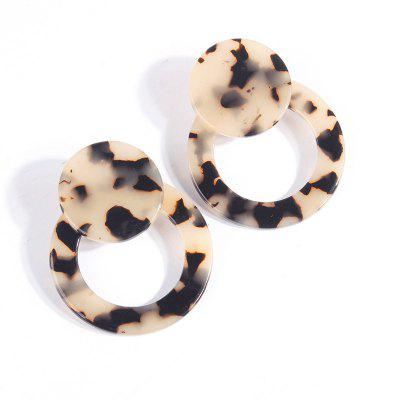 Sexy Leopard Cutout Round Round Plate Acetate Plate Earrings
