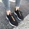 Fashion Sneakers Breathable Sport Shoes for Women - BLACK