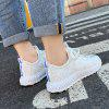 Fashion Sneakers Breathable Sport Shoes for Women - WHITE