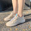 Fashion Sneakers Breathable Sport Shoes for Women - BEIGE