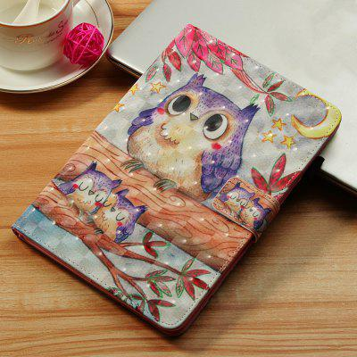 Purple Owl 3D Painted Tablet Leather Case for iPad Pro 11 inch(2018)