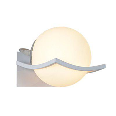 Modern Led Wall lamp White Glass Indoor for Bedside Pathway Dining Room E27