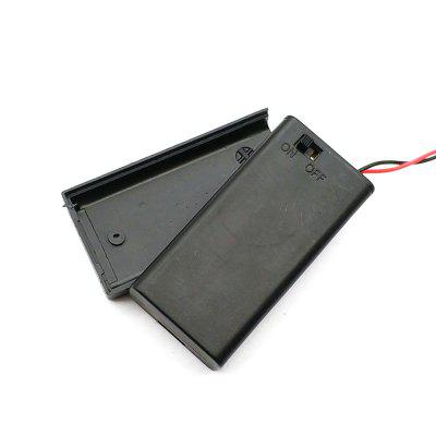 2AA Battery Box with Covered Switch and Parallel Strip Wire 3Pcs