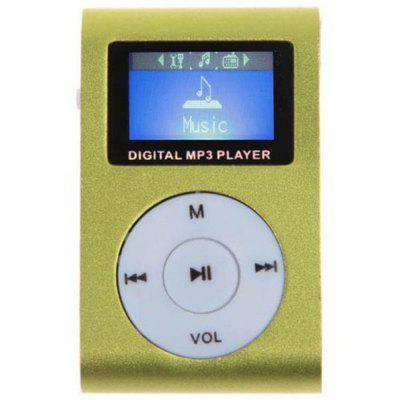 LCD MP3 Music Player with Back Clip FM Radio Support Micro SD Card