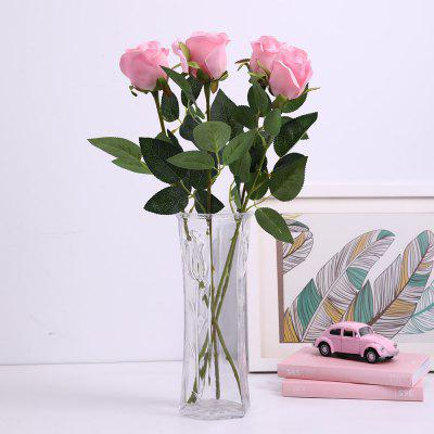 Simulation Flower Single Rose Home Decoration Simple Idyllic Parts