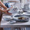 Ceramic European Marble Plate Set - LIGHT GRAY